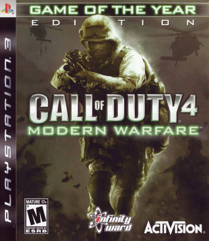 Call of Duty 4: Modern Warfare -- Game of the Year Edition  (Sony PlayStation 3 )