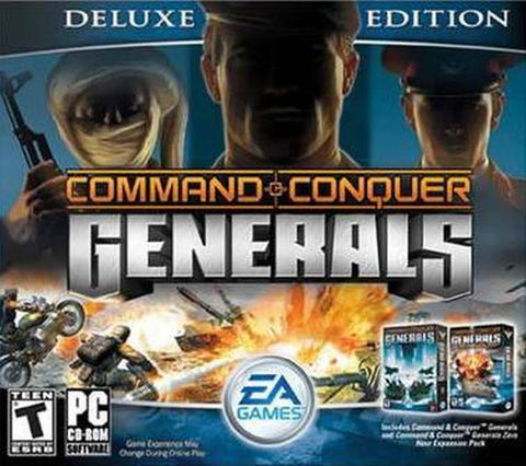 Command & Conquer: Generals -- Deluxe Edition (PC, 2003) 4 Disc Set