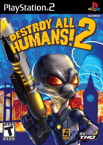 Destroy All Humans 2 (Sony PlayStation 2, 2006) Complete