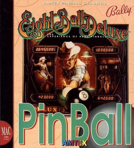 Eight Ball Deluxe Pinball For Apple (Macintosh, 1993) Big Box