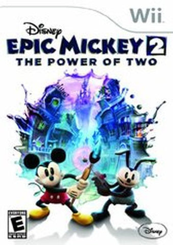 Epic Mickey 2: The Power of Two (Nintendo Wii, 2012) Complete