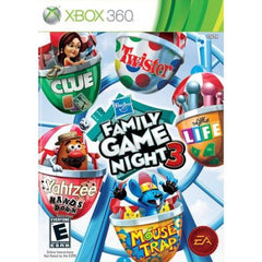 Hasbro Family Game Night 3 (Microsoft Xbox 360, 2010) Complete