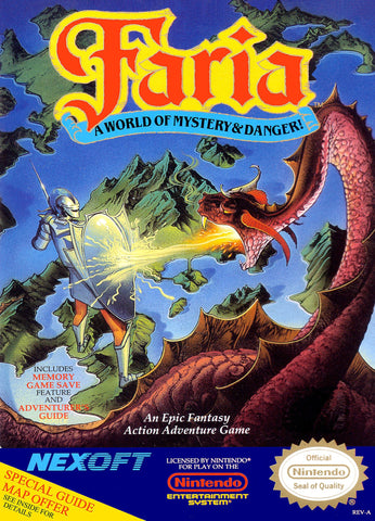 Faria: A World of Mystery and Danger (Nintendo Entertainment System, NES, 1991)