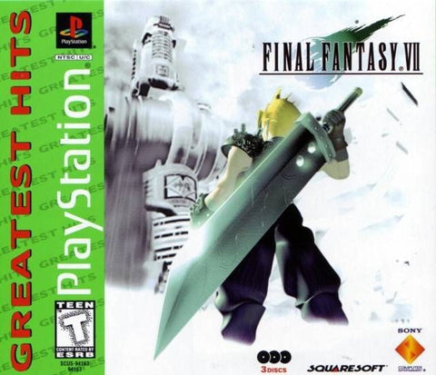 Final Fantasy 7 Greatest Hits Sony Playstation 1 Game Disc 3 Three Only
