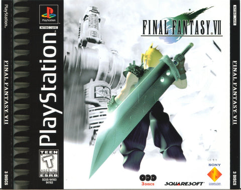 Final Fantasy VII 7 Sony PlayStation 1 - Game Disc 2 Two Only - Black Label