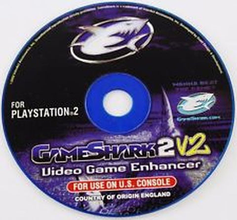 GameShark 2 V2 Video Game Enhancer Playstation 2 Disc and Memory Card
