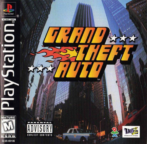 Grand Theft Auto (Sony PlayStation 1, 1998) Complete