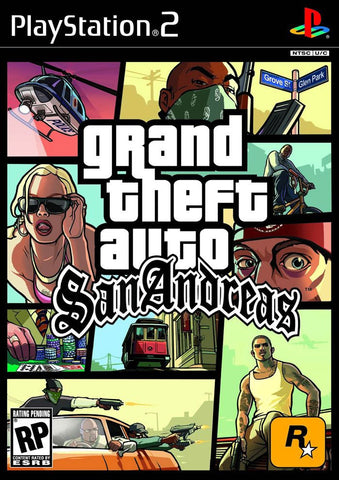 Grand Theft Auto: San Andreas (Sony PlayStation 2, 2005) Complete