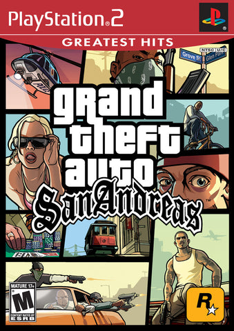 Grand Theft Auto: San Andreas (Sony PlayStation 2, 2005) Complete With Map