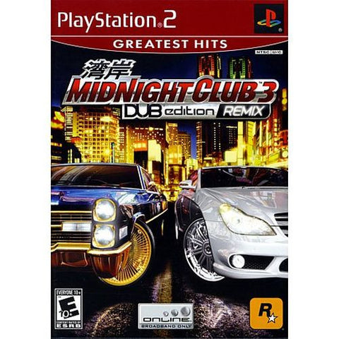 Midnight Club 3: DUB Edition Remix  (Sony PlayStation 2, 2006) Complete