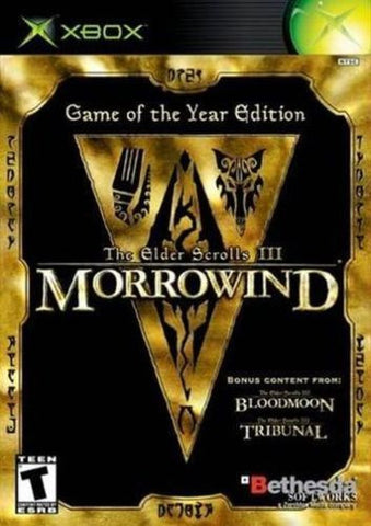 Elder Scrolls III: Morrowind Game of the Year Edition (Microsoft Xbox, 2003) Complete