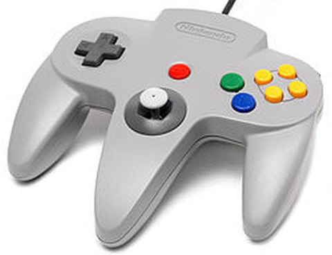 N64 Official Nintendo 64 Controller Gamepad Atomic Grey NUS-005 Tight Stick