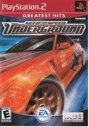 Need for Speed: Underground [Greatest Hits] (Sony PlayStation 2, 2003) Complete