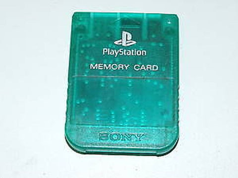 Official Sony PlayStation 1 PS One Green Clear Memory Card OEM SCPH-1020
