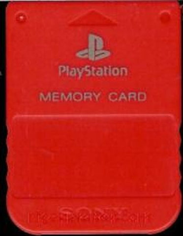 Official Sony PlayStation 1 PS1 Red Memory Card Model SCPH-1020 Rare