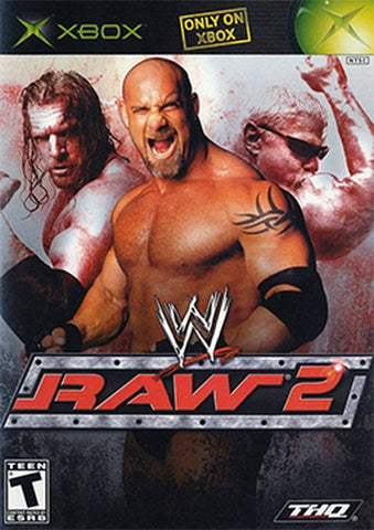 WWE Raw 2: Ruthless Aggression (Microsoft Xbox, 2003) Complete