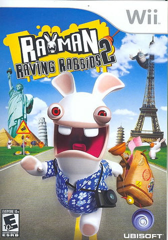 Rayman Raving Rabbids 2  (Nintendo Wii, 2007) Complete
