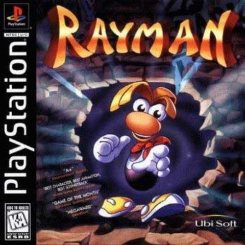 Rayman (Sony PlayStation 1, 1995) Black Label Jewel Case