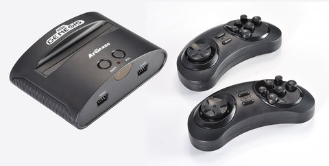 AtGames Sega Genesis Classic Game Console With 80 Built In Games 2 Wireless Controllers Second Listing