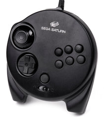 Sega Saturn OEM Official Black 3D Controller Gamepad Wired - Games Found Here  - 1
