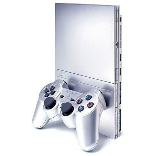 Sony PlayStation 2 Slim Satin Silver Console (SCPH-90001SS