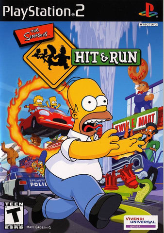 Simpsons: Hit & Run  (Sony PlayStation 2, 2003) Complete Second Listing