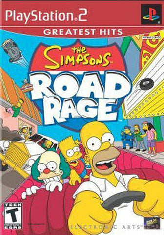 The Simpsons Road Rage [Greatest Hits] (Sony PlayStation 2, 2001) Disc only