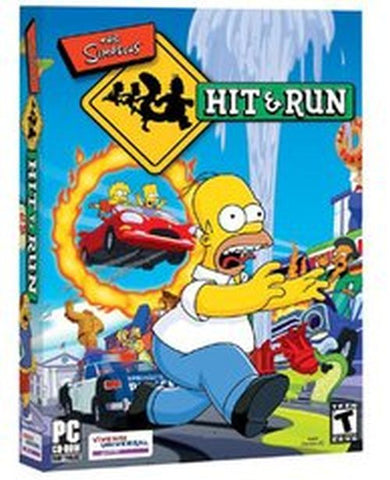 The Simpsons Hit and Run (PC, 2003) Complete With Collector Card