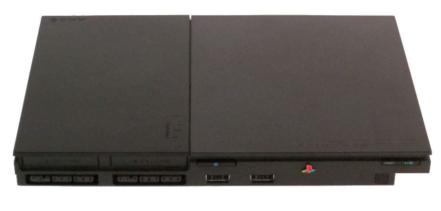 sony playstation 2 slim. complete sony playstation 2 console system \u0026 video game lot of 11 playstation slim
