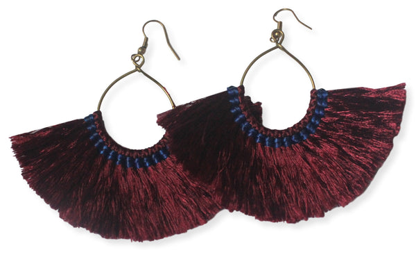 Millie Tassel Earring - Pomegranate
