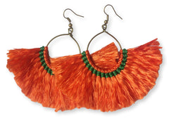Millie Tassel Earring - Orange