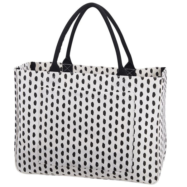 Black and White Dottie Tote