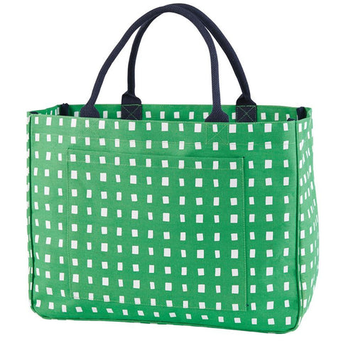 Kelly Green Squares Tote
