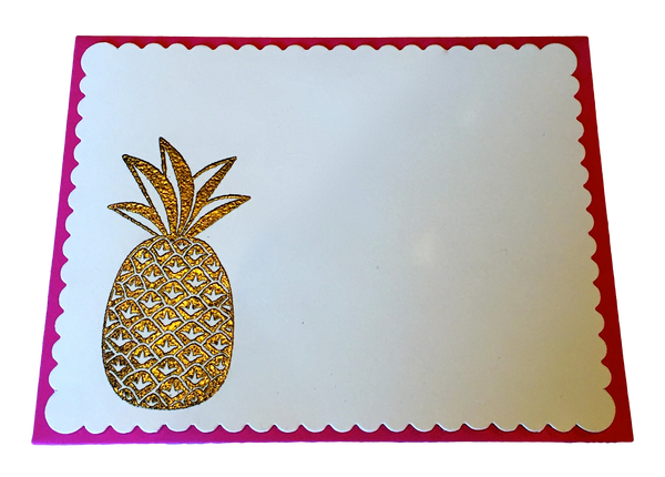 Pineapple Notecard Set