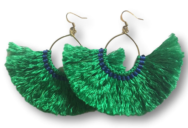 Millie Tassel Earring - Emerald