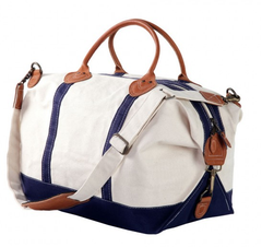 Canvas Duffle Bag - Navy