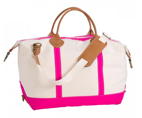 Canvas Duffle Bag - Pink