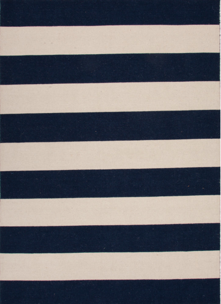 Navy Stripe Rug