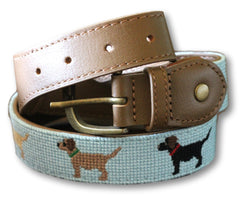 Puppy Needlepoint Belt