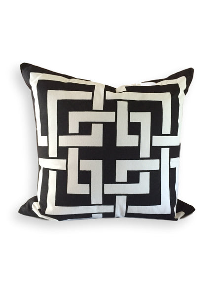 Fretwork Pillow Black