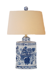 Blue & White Chinoiserie Lamp