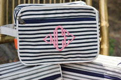 Striped Makeup Bag