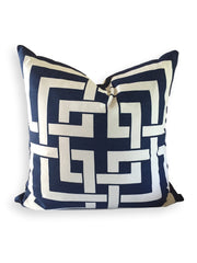 Fretwork Pillow Navy