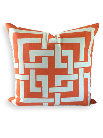 Fretwork Pillow Orange
