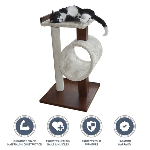 Cat tree offers an alternative for scratching the furniture