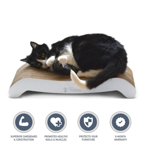 Cat scratcher for cats who like to scratch carpet
