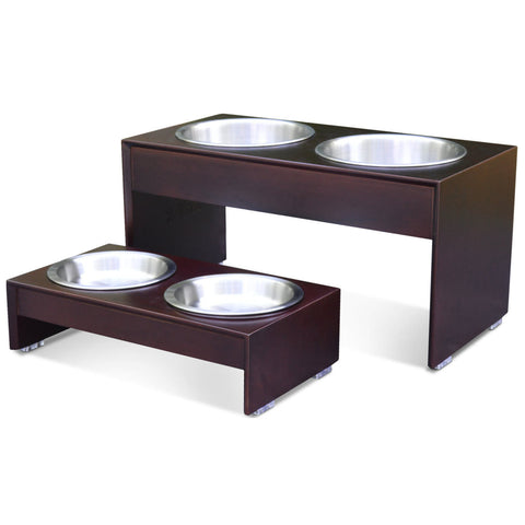 PetFusion Elevated Dog Bowl Stand in Premium Bamboo (responsibly sourced) - PetFusion