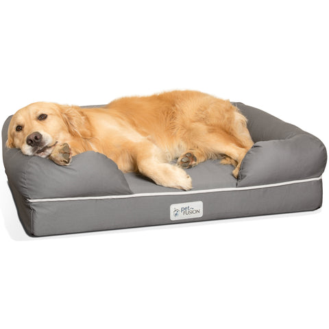 PetFusion Ultimate Pet Bed & Lounge Prem Edition in Solid Memory Foam