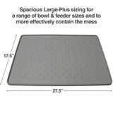 PetFusion ToughGrip Food Mat [Large-Plus size, Waterproof, Non-Toxic] - PetFusion