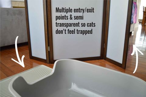 PetFusion ModestCat Litter Box Privacy Screen - PetFusion